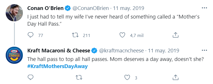 kraft mother's day on twitter